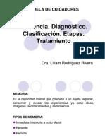 Demencia Tratamiento y Clasificacion Liliam Rdguez