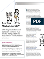 Is Your Country Media - Literate?  by Ricardo Saludo