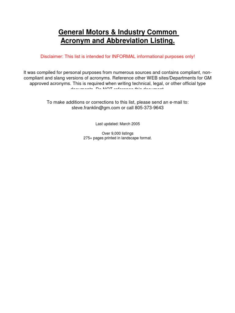 Gm Abbreviation Automation Automatic Transmission Fuse Box Abbreviations  Meanings Gm Fuse Box Abbreviations