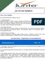 Class 12 Icse Syllabus