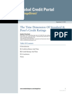 The Time Dimension of Standard Poors Credit Ratings