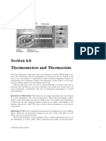 Thermometers and Thermostats