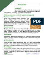 Paddy Quality