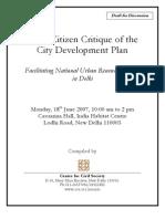 Delhi Citizen Critique of Cdp