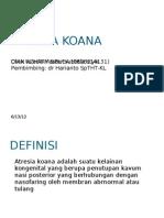 Atresia Koana