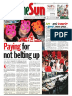 TheSun 2009-01-02 Page01 Paying for Not Belting Up