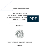 A Chemical Study of Arsenic, Boron and Gases in High-Temperatures Geothermal Fluids in ICeland