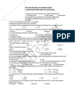 APPSC Polytech Exam Physics Question Paper 2012