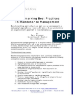 Benchmarking Best Practices Maintenance Management