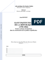 Kant Instituteur de La Republique