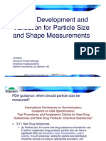 Willen FFY Method Development Particle Size Shape Measurements