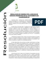 Resolución Comarca Sur Moción Censura Casarrubuelos 13 junio 2012