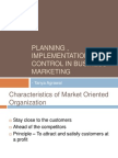 Planning , Implementation and Control in Business Marketing
