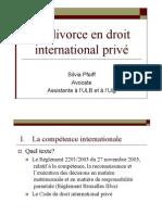 Le divorce en droit international privé-11.12.2010