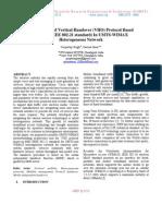 Development of Vertical Handover (VHO) Protocol Based on MIH (IEEE 802.21 standard) In UMTS-WIMAX Heterogeneous Network