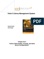 0820 Chapter 4 Kohas Web Installer Crontab and Other Server Configurations