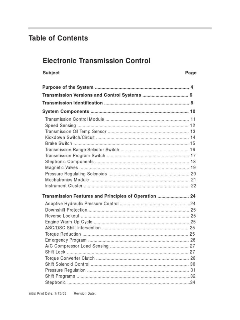 Bmw Automatic Transmission Manual Control Module Wire Diagram
