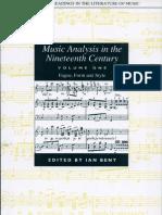 Music Analysis in the Nineteenth Century