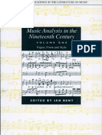 Music Analysis in the Nineteenth Century