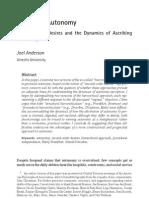 Disputing Autonomy