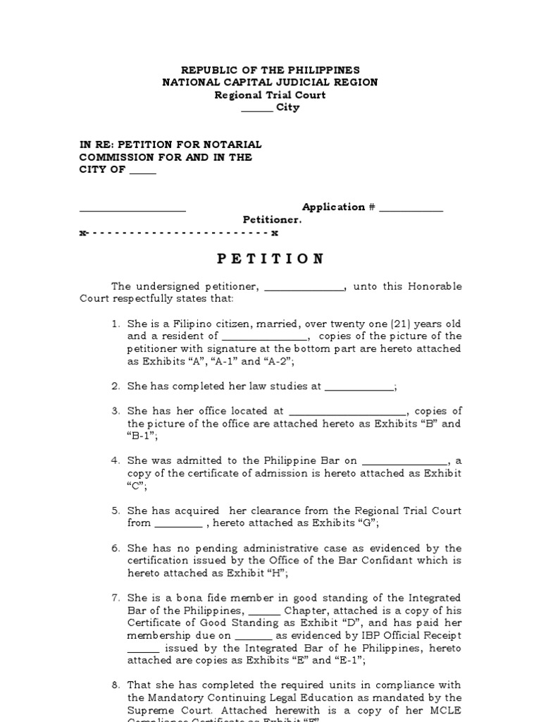notarized document sample