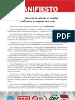Manifiesto y Firmas Mayo Junio 2012 Def