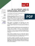 Nota PSOE Cartaya.12-06
