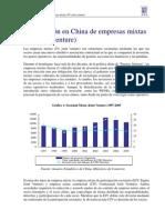 Joint Venture Empresas Mixtas China