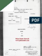 Obama '64 Divorce Decree - Plains Radio