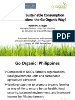 Achieving Sustainable Consumption and Production the Go Organic Way!