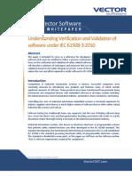 Understanding Verification Validation of Software Under IEC61508-32010