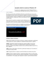 Comandos Desde La Consola en Windows XP