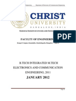 b Tech Integrated Mtech ECE 2012 Proposed