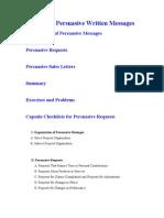 Chapter 10 Persuasive Written Messages