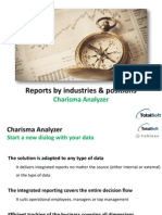 Reports on Industries and Positions generated in Charisma Analyzer