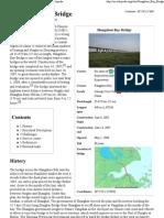 Hangzhou Bay Bridge - Wikipedia, The Free Encyclopedia