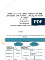Price Discovery Under Different Market Conditions and Moneyness
