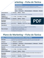 Plano de Marketing - Fichas de Táctica