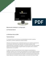 67781677 Manual Para Instalacao e Configuracao Do Terminal Server