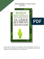 51319024 El Lider Que No Era Licenciado Robin Sharma