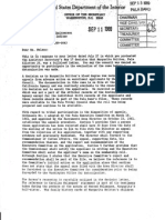 September 11, 1989 Department of the Interior Lettter to Pala Chairperson Patricia Nelson On Margarita Brittain