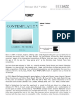 "Press Release of Gabriel Zufferey's album ""Contemplation"" (BEE052)"
