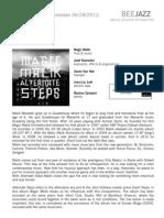 "Press Release of Magic Malik's album ""Alternate Steps"" (BEE053)"