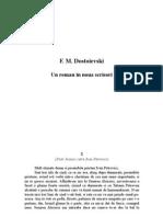 F.M.dostoievski - Un Roman in Noua Scrisori