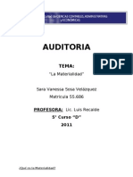 Auditoria - Materialidad