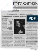 """""""Franquicias, es tiempo de exportar su éxito emprendedor"""" 15-31 de Mayo de 2008-Empresas y Empresarios"""