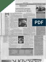 """""""Gastronomía peruana, a la conquista de México"""" 16 de Octubre de 2008-El Financiero"""