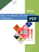 Plan de Manejo de Sustancias Peligrosas Version 10-12-2010
