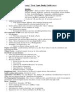 2012 u.s. i Final Study Guide
