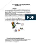 Tipos de Licencia de Software Libre y Software Propietario